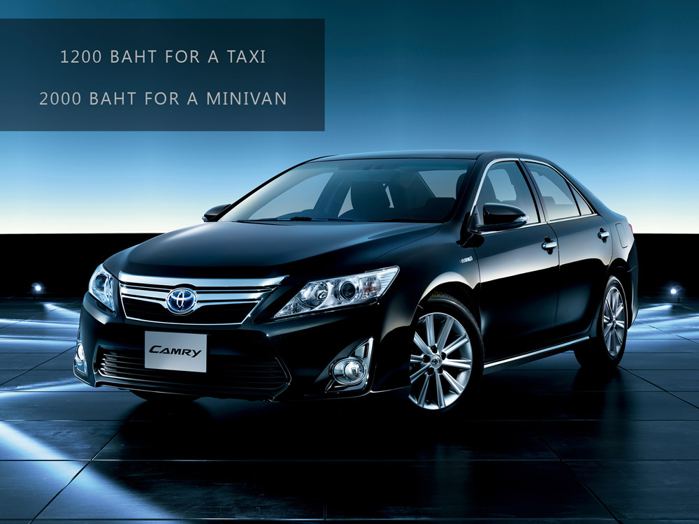 Taxi Airport to Pattaya | Camry | Contact us now
